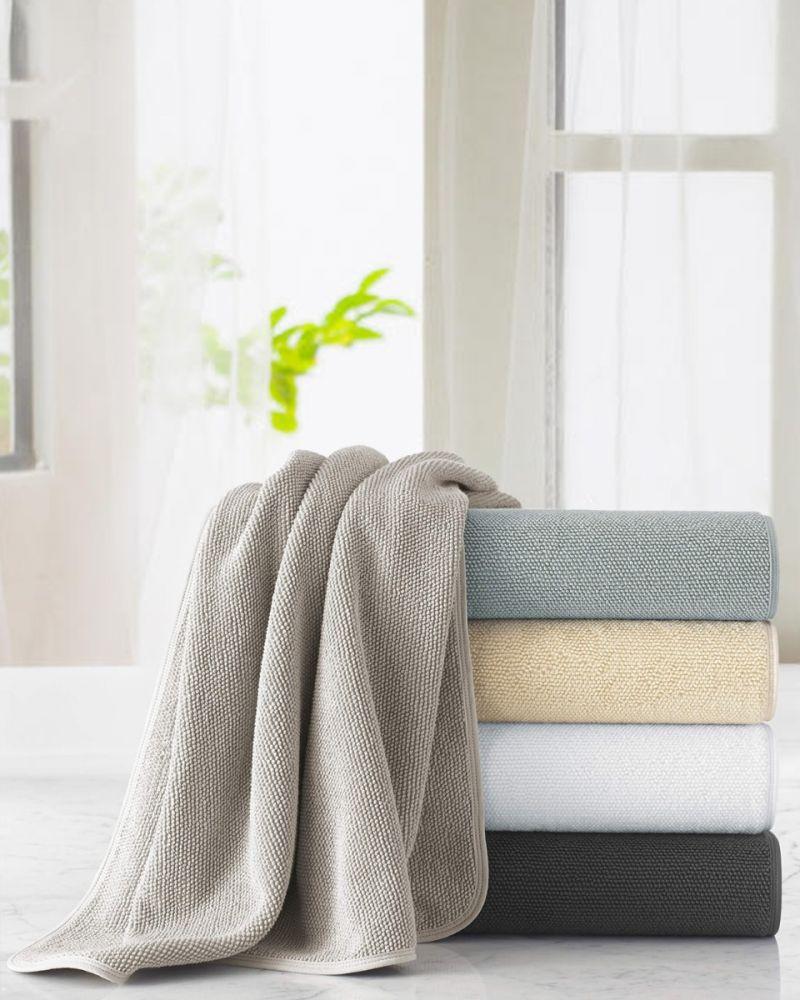 Cobblestone Textured Aegean Cotton Towel
