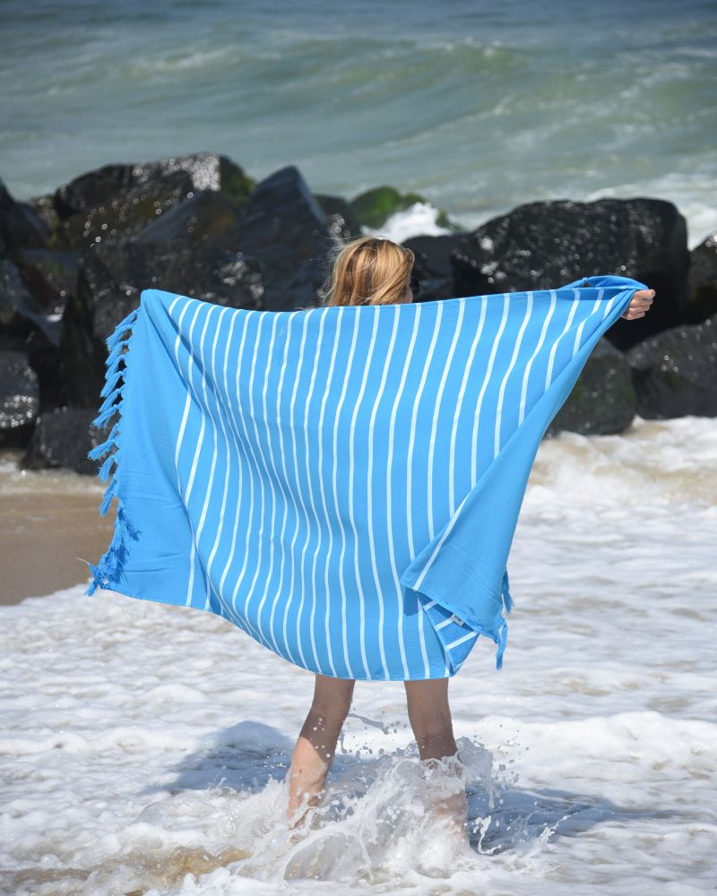 Livia Peshtemal Beach Towel-Turquiose