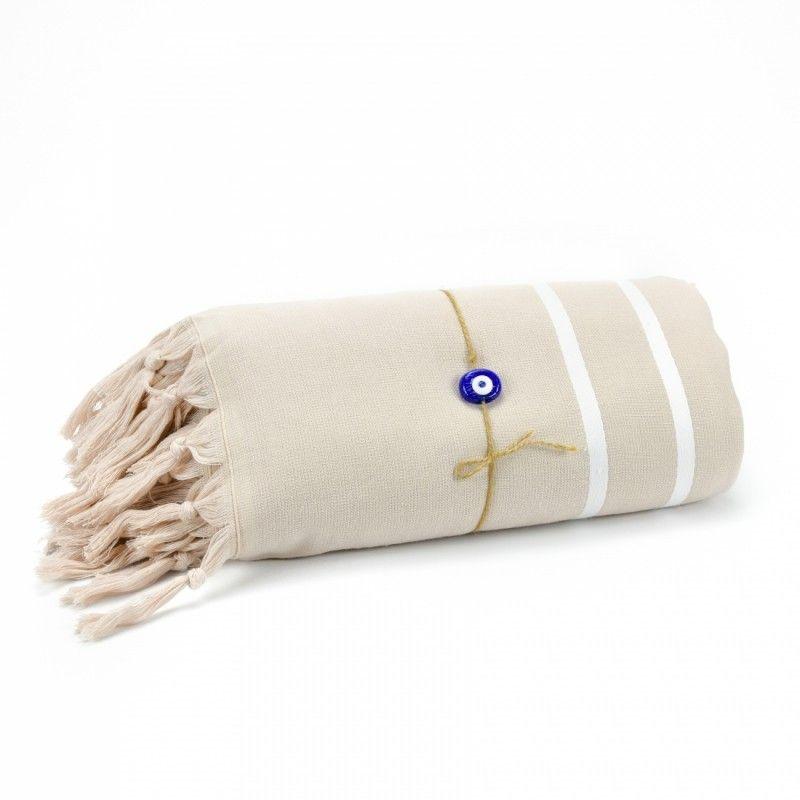 Livia Peshtemal Beach Towel-Beige