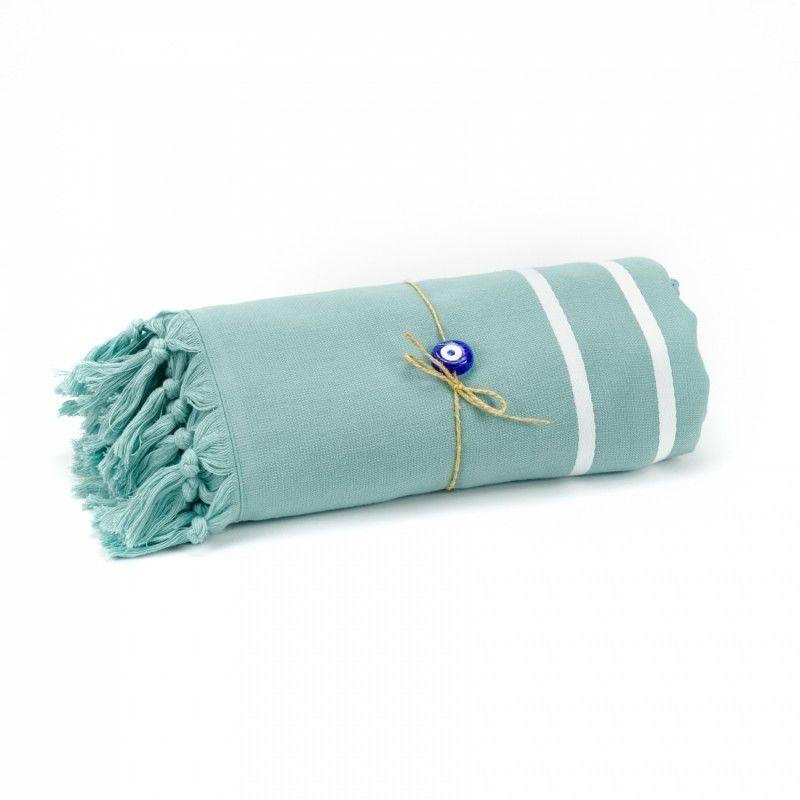Livia Peshtemal Beach Towel-Green