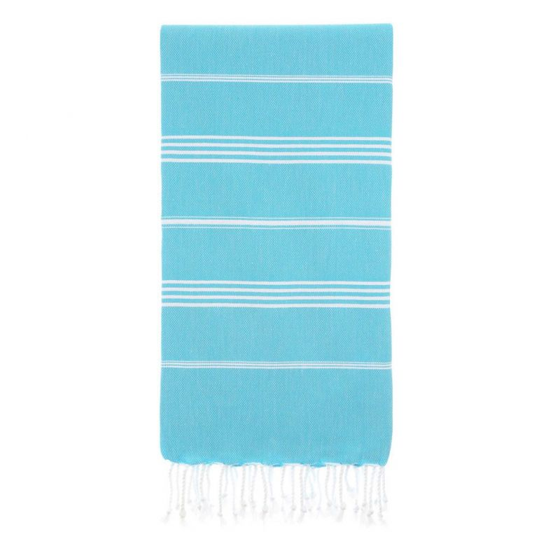 Lina Peshtemal Beach Towel-Turquoise